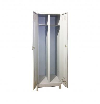 Шкаф металлический для одежды двухсекционный