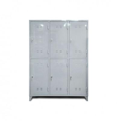Шкаф металлический для одежды шестисекционный