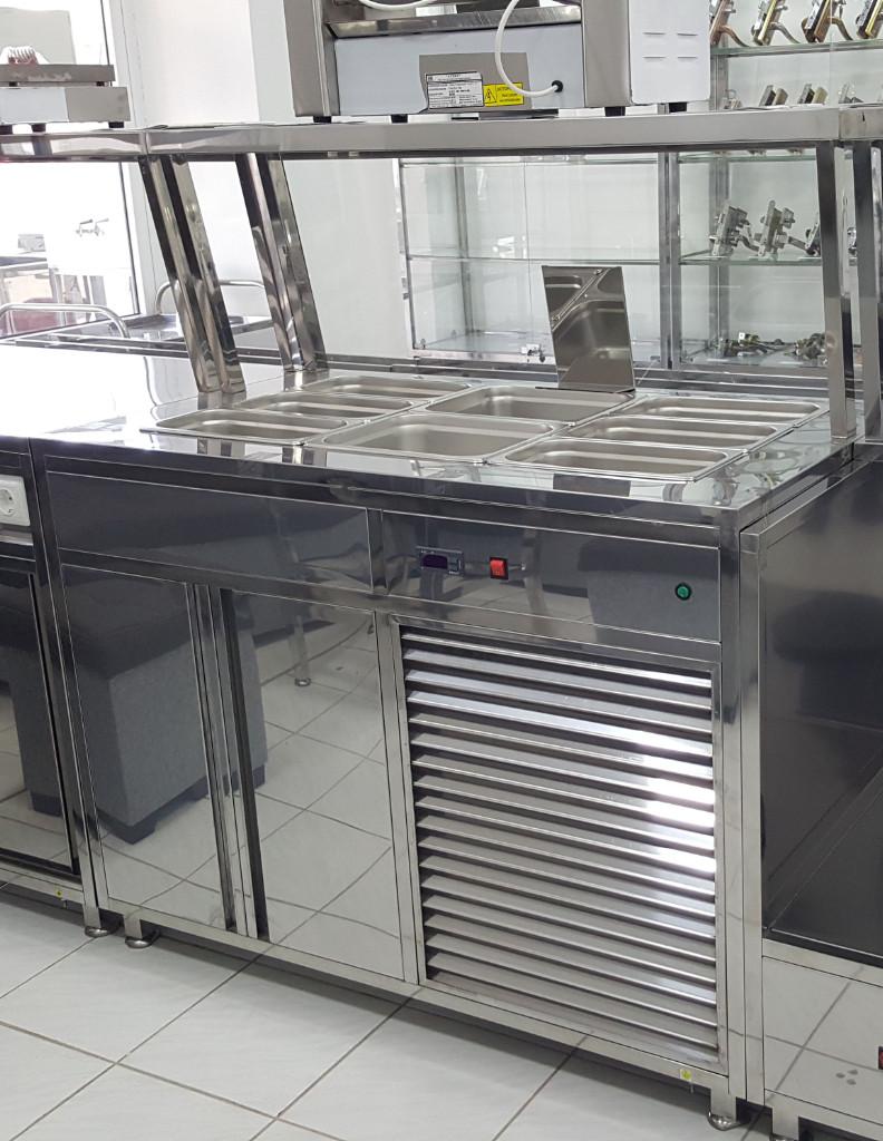 Мармит стол холодильный трехрядный-2