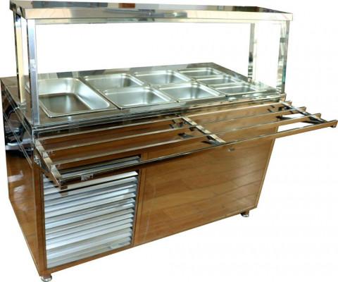 Мармит стол холодильный четырехрядный