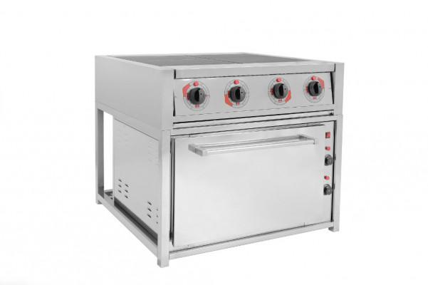 Электрическая плита четырех конфорочная с жарочным шкафом