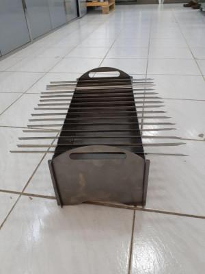 Мангал металлический сборно-разборный 500x190x220