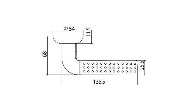 Дверная ручка NBLB08 (производство Китай)-1
