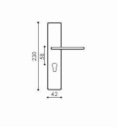 Дверная ручка NBLB41 (производство Китай)-1