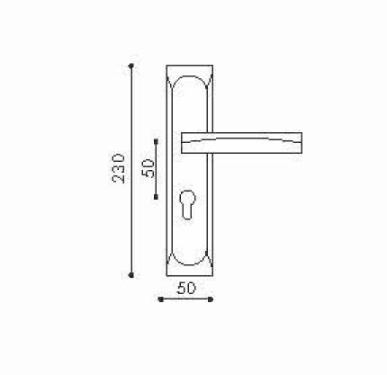 Дверная ручка NBLB46 (производство Китай)-1