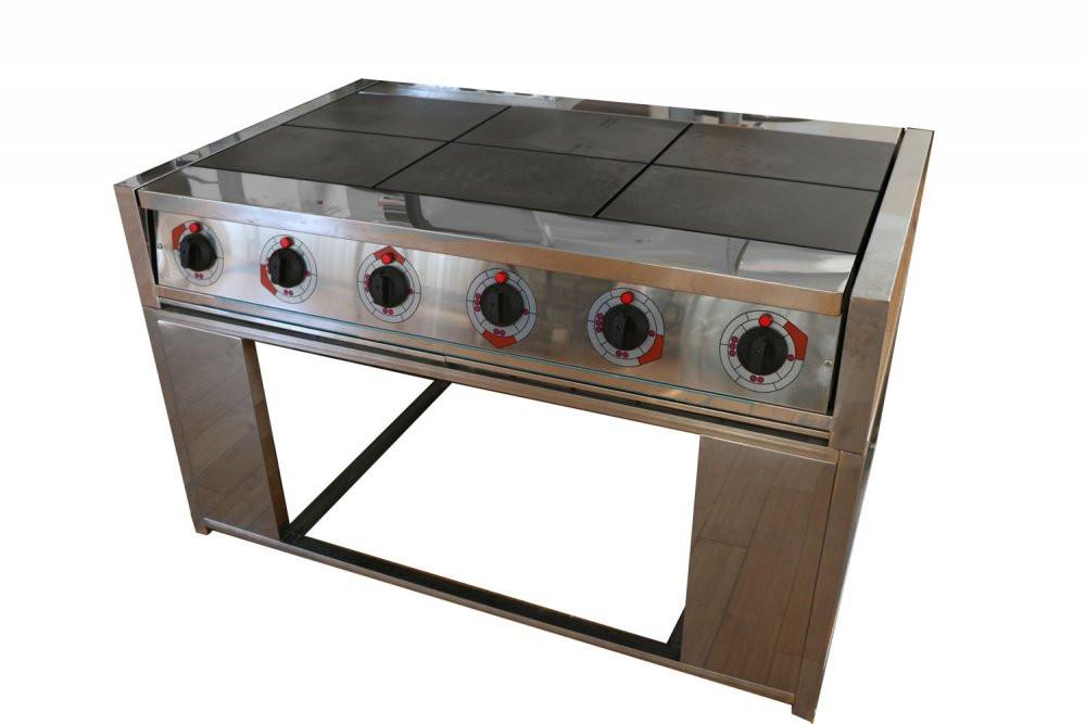Электрическая плита шести конфорочная без жарочного шкафа-0