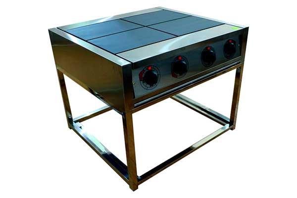 Электрическая плита четырех конфорочная без жарочного шкафа-0