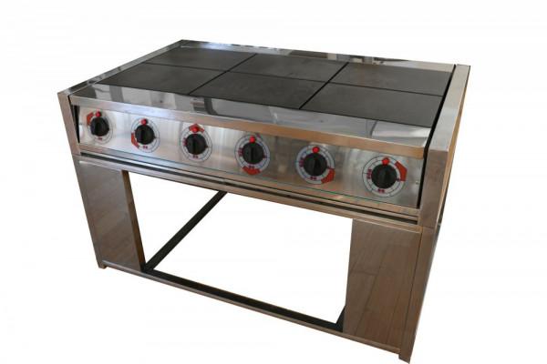 Электрическая плита шести конфорочная без жарочного шкафа