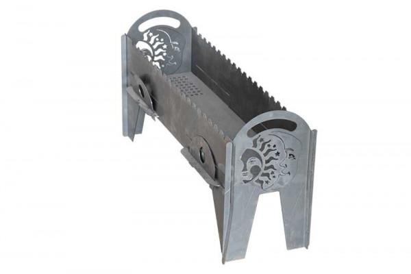 Мангал металлический сборно-разборный 800х230х380