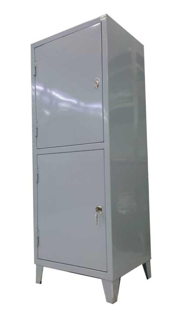 Металлический шкаф для документов двухсекционный
